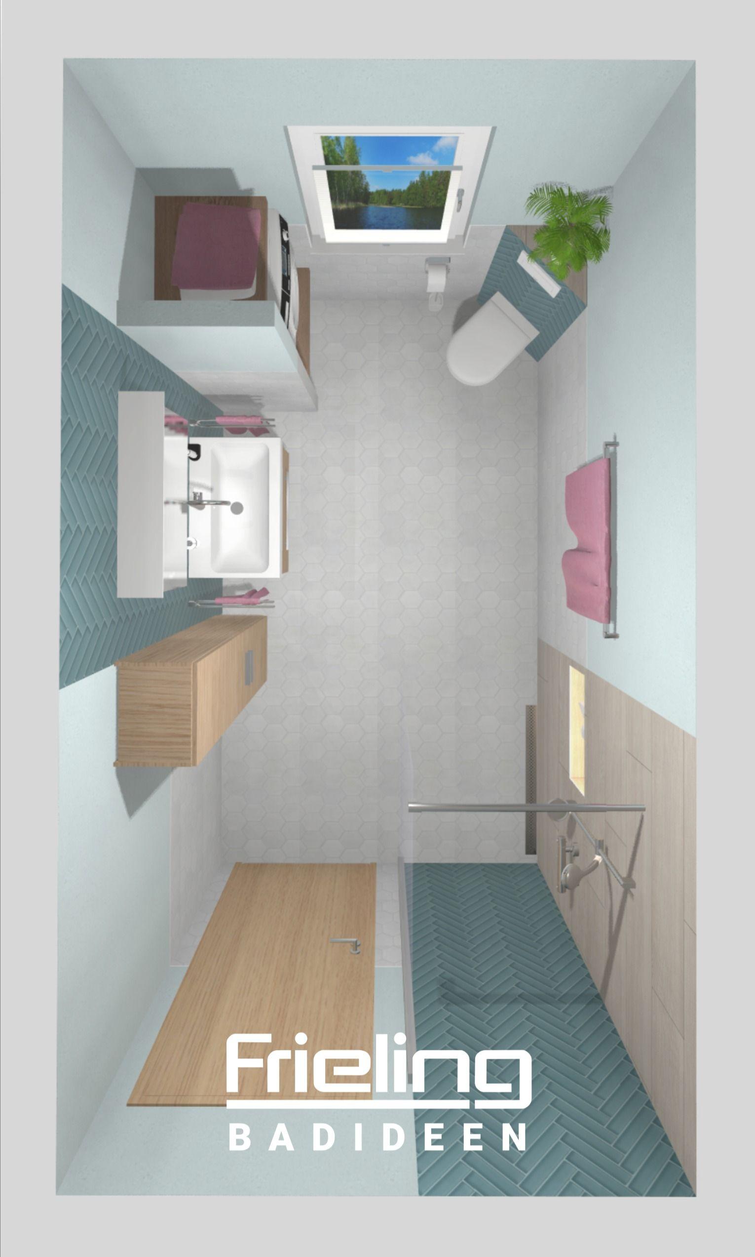 So Planen Wir Ein Badezimmer Mit Waschmaschine 3d Planung Badmobel Fliesenhighlights 7 Qm In 2020 Badezimmer Badezimmer Grundriss Bad Grundriss