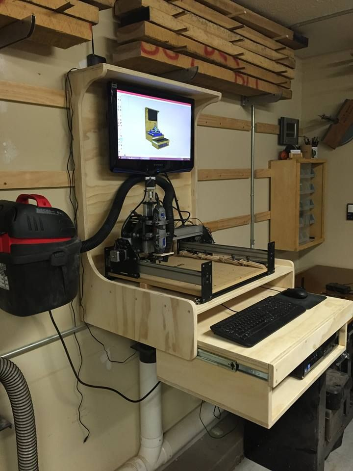 Computer Cnc Workstation Cnc Woodworking Diy Cnc Cnc Wood