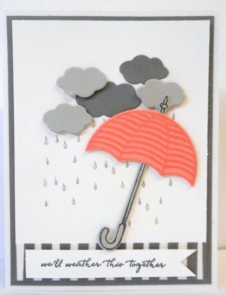 Umbrella Flowers Umbrella Cards Cards Handmade Card Craft