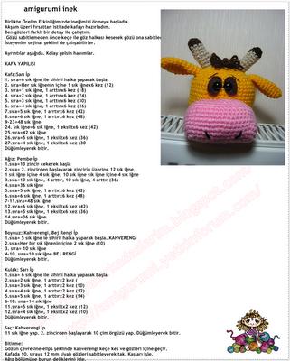 ÖRBİ İnek Amigurumi Oyuncak (25 cm) Fiyatı - Taksit Seçenekleri   400x321