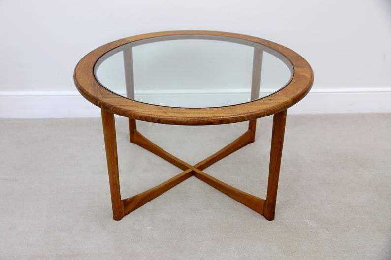 Mid Century Teak Glass Round Coffee Table Round Glass Coffee Table Round Coffee Table Coffee Table