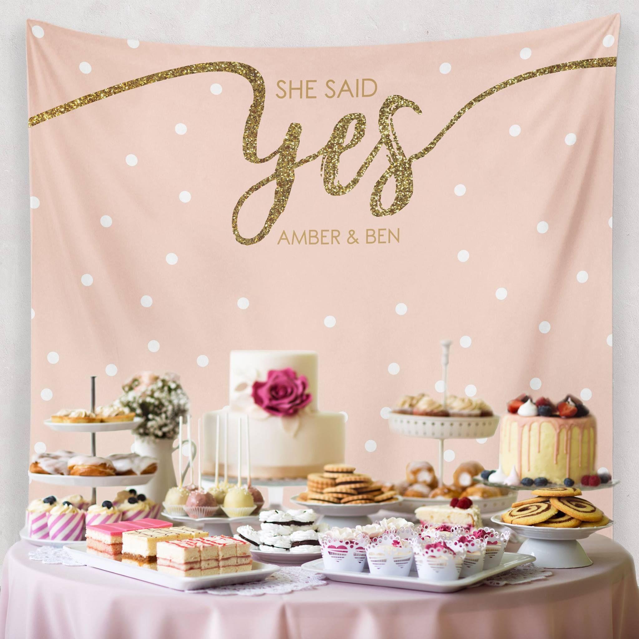 Wedding Dessert Table Backdrop: Custom Wedding Tapestries For Dessert Backdrops And Photo