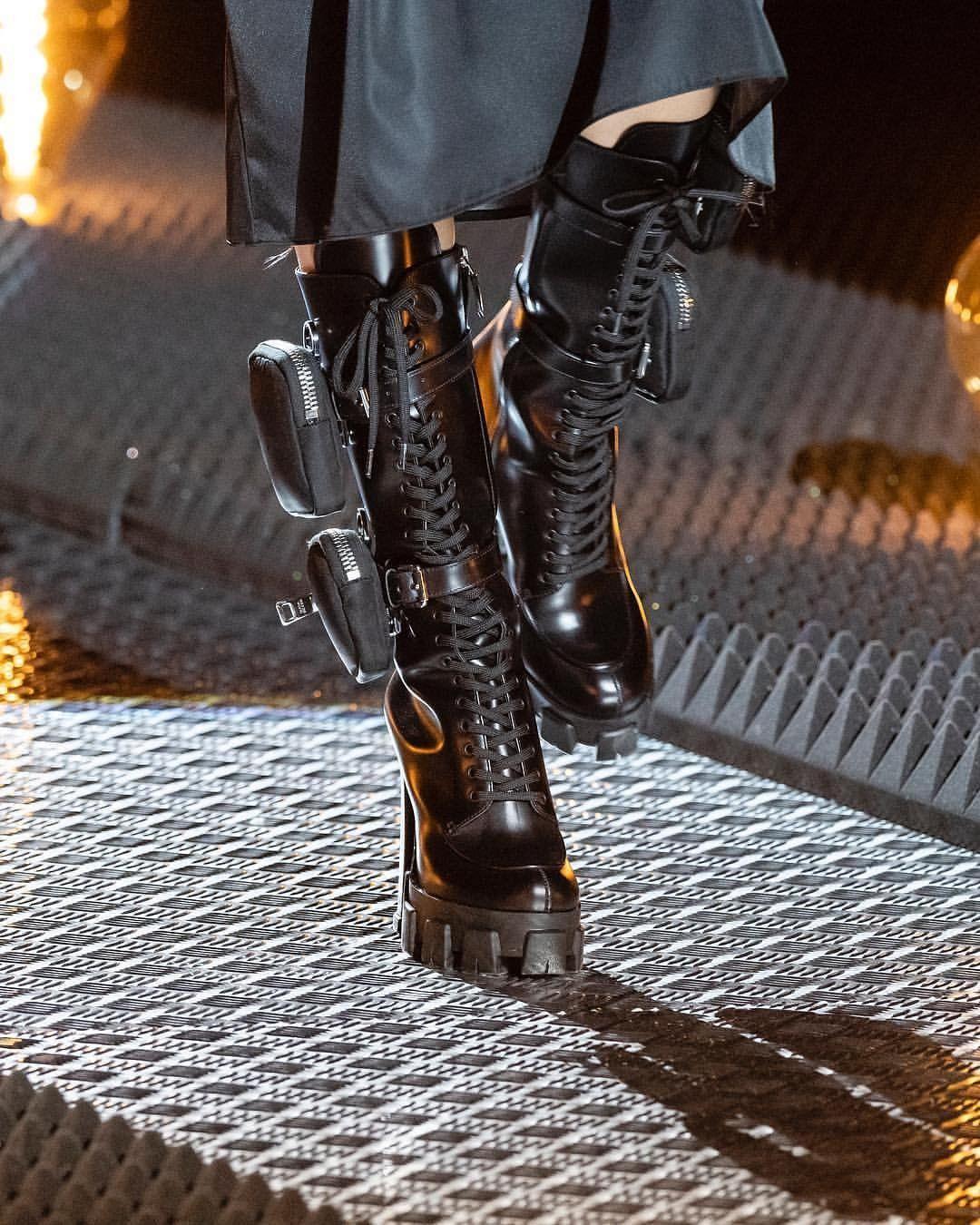 Pradacloudbustthunder Boots Combat Boots Prada