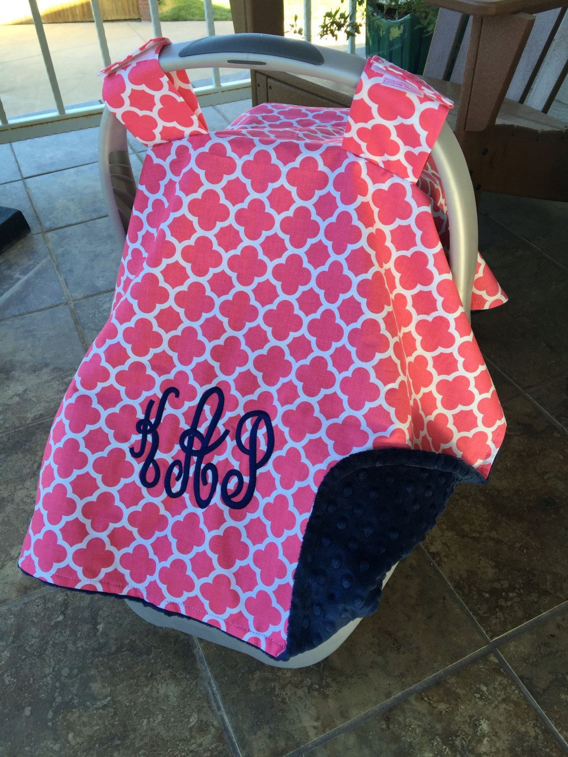 Car Seat Canopy For Girls Carseat Cover Personalized Baby Gift