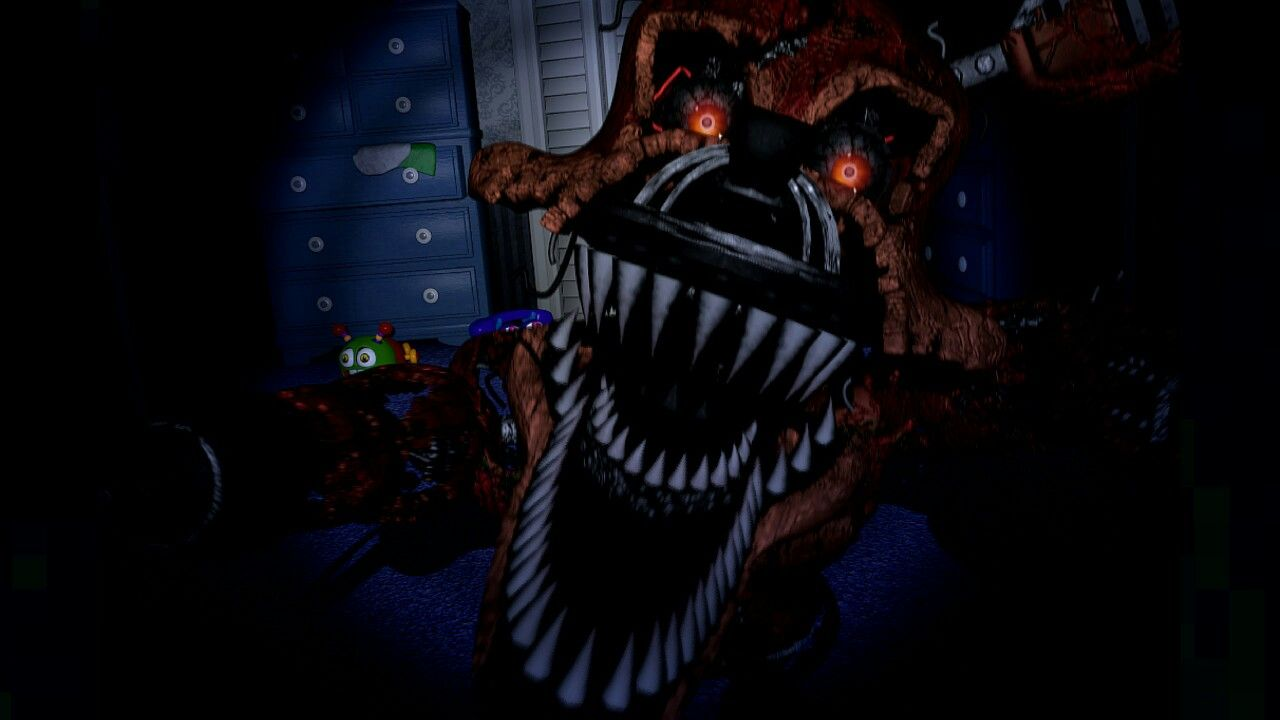 Nightmare foxy jumpscare | FNaF4 | Five nights at freddy's