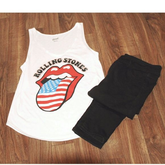 32003a6f852fd Rolling Stones tank Nwt wet seal Rolling Stones top. Never worn and in  perfect condition. Wet Seal Tops