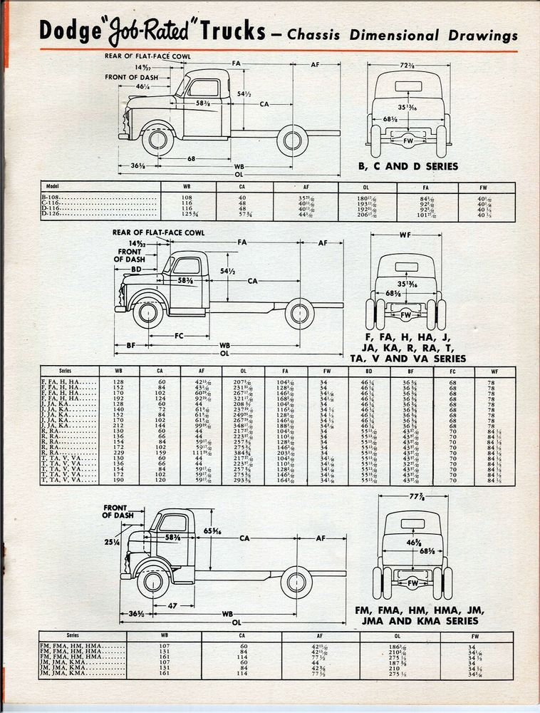 1948 Dodge Cabs-Chassis Trucks