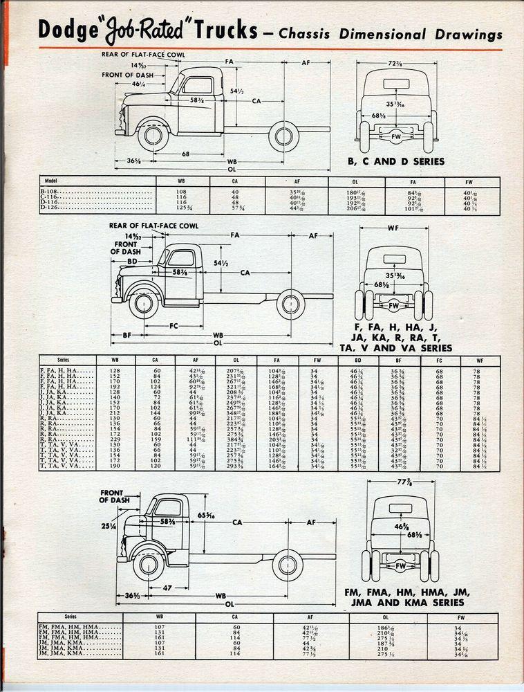 1948 Dodge CabsChassis Trucks Plans (Trucks