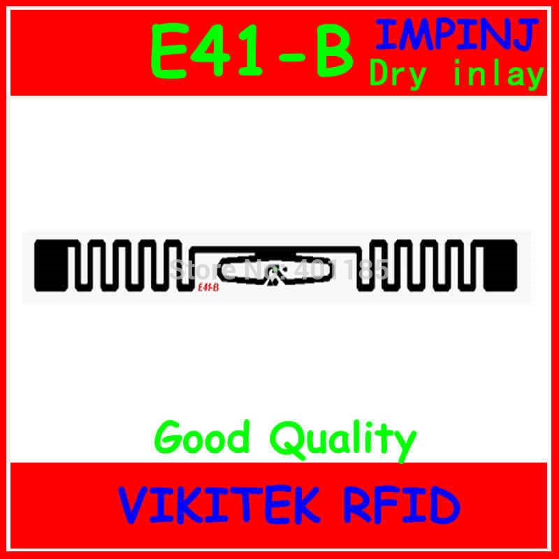 0.15$  Buy here - http://alicxx.shopchina.info/go.php?t=726727062 - Impinj E41-B UHF RFID dry inlay 860-960MHZ  Monza4 915M EPC C1G2 ISO18000-6C can be used to RFID tag and RFID label  #buyininternet