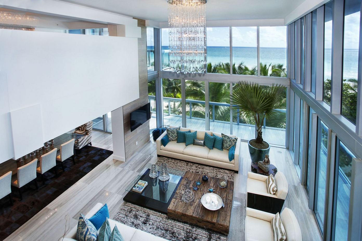 This eclectic space was designed by miami fl based v3 architectural group see