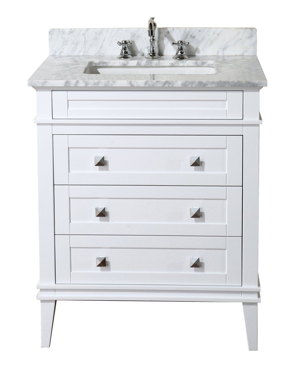 Eleanor 30inch Vanity (Carrara/White