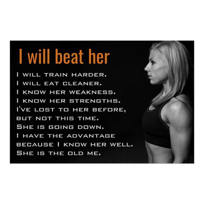 Gym Woman Muscles | Girl Workout Motivation Poster | Zazzle.com