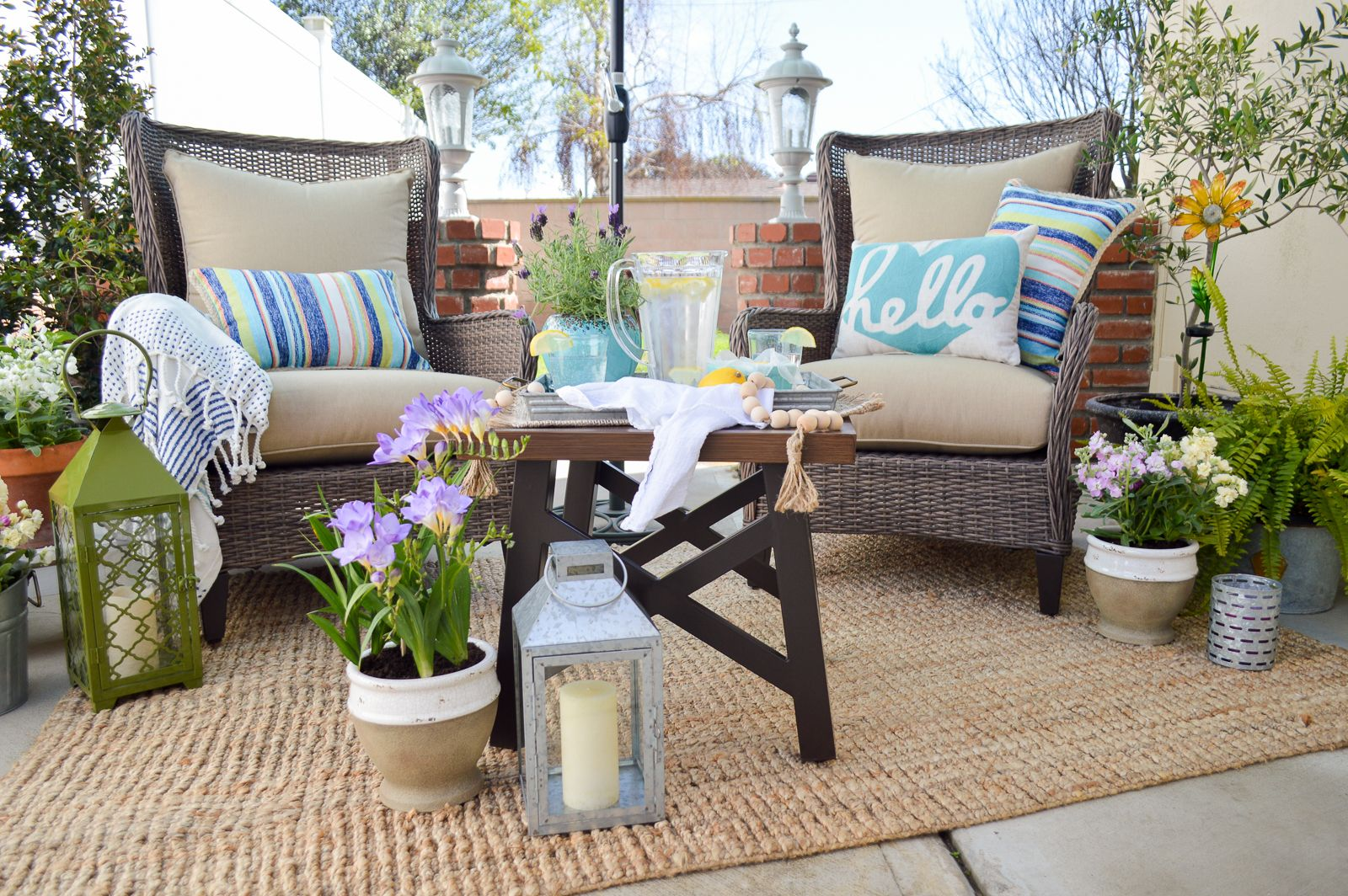 Small Space Outdoor Decorating Ideas Comfortable Outdoor