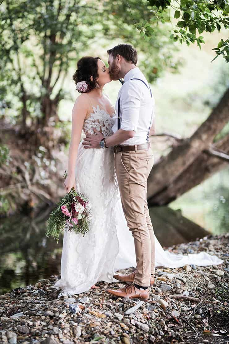 Rustic boho wedding inspiration in blush and olive katrina cram