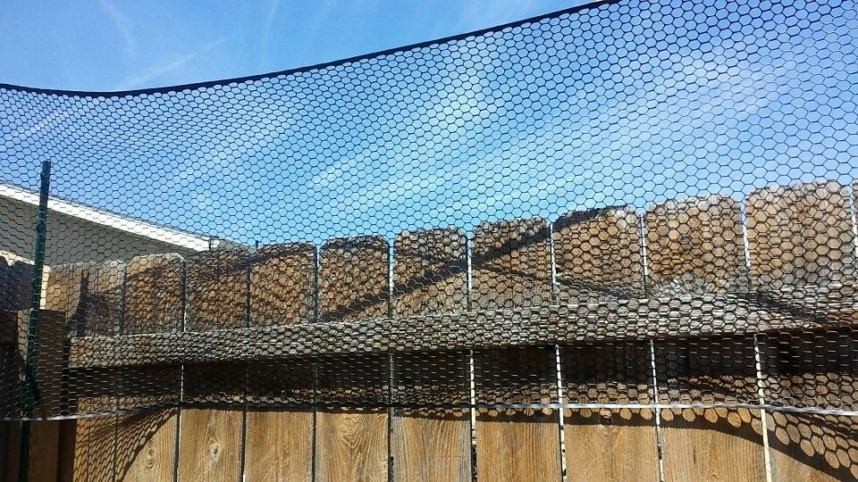 Diy extended fence for dogs with a tendency to jump   Home ...