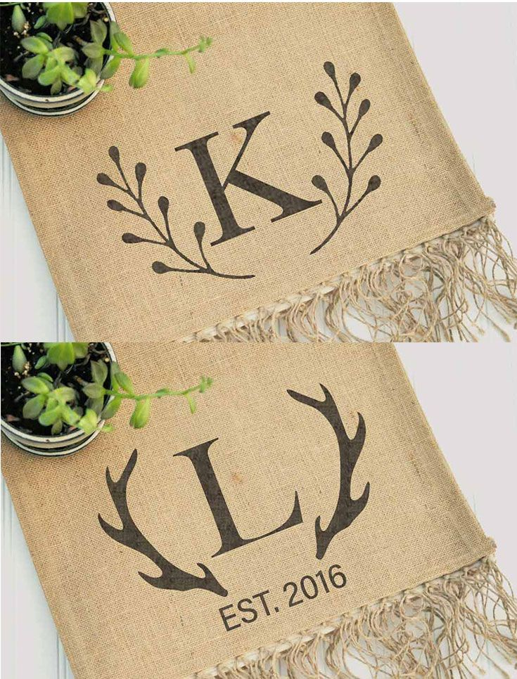 Personalize Your Wedding With These Burlap Table Runners For Modern Farmhouse Tables And Rustic Decor