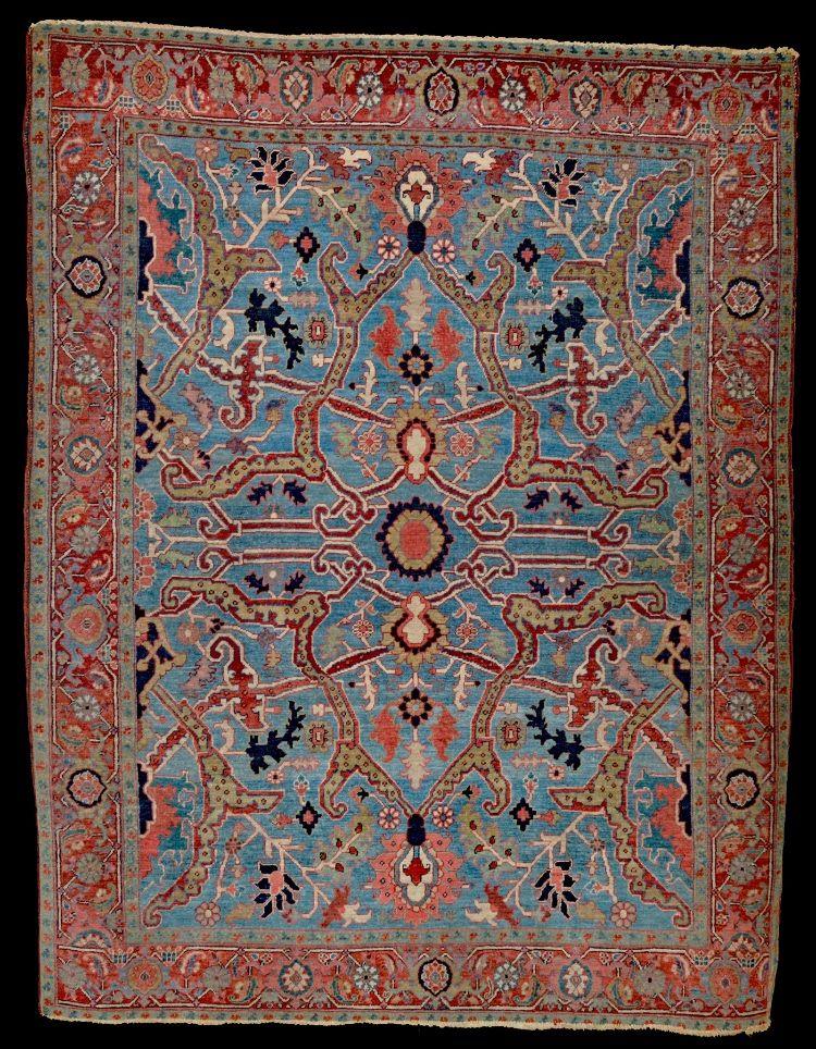 Antique Oriental Rugs Serapi Rug