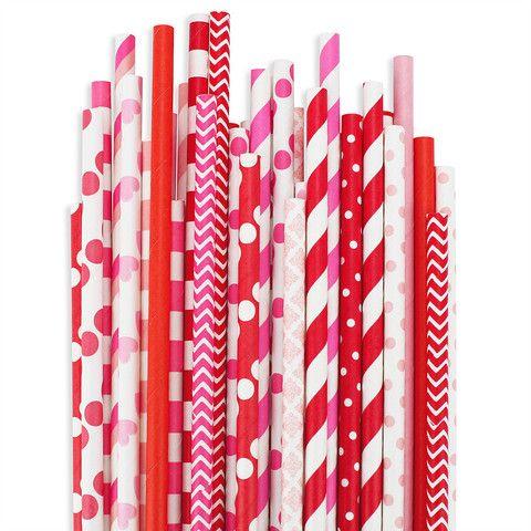 Valentine Paper Straw Assortment - Also for Bridal Shower, Girls Birthday - via Layer Cake Shop (($))
