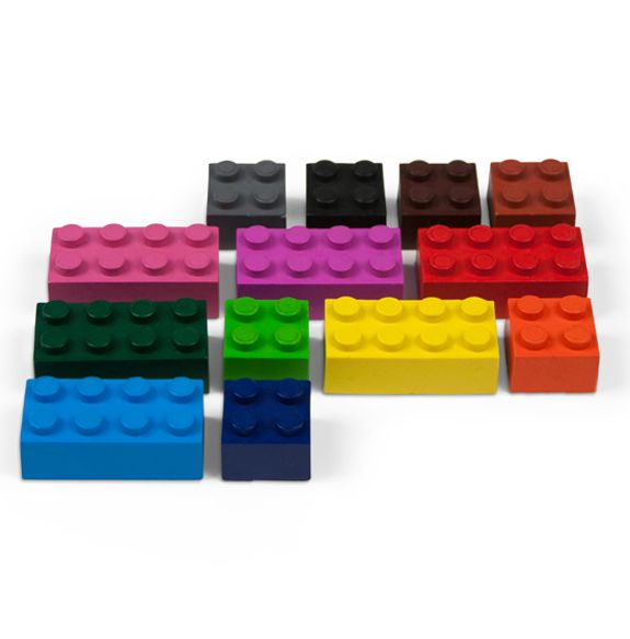 Lego Crayons They Even Stack With Images Lego Crayons Kid Utensils Block Crayons