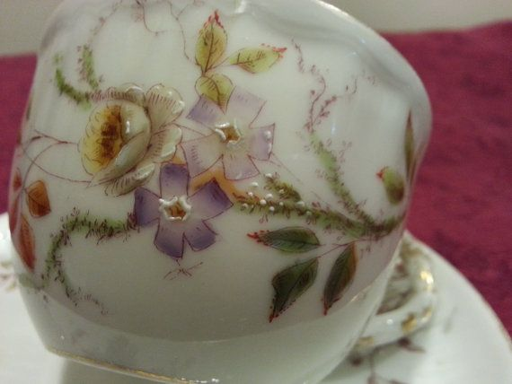 Exquisite Tea Cup and Saucer by Oscar Gutherz by CollectAndFurnish, $67.00