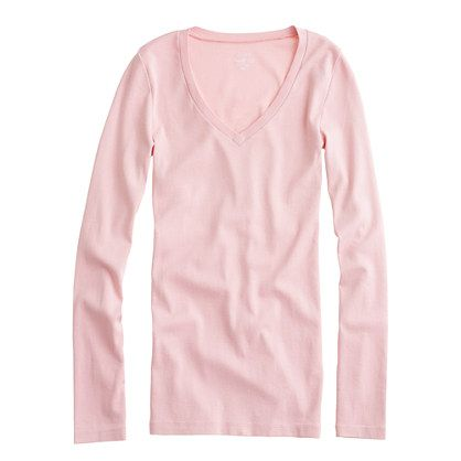 d1dc95e85da2 Perfect-fit long-sleeve V-neck tee - long-sleeve tees - Women's knits & tees  - J.Crew