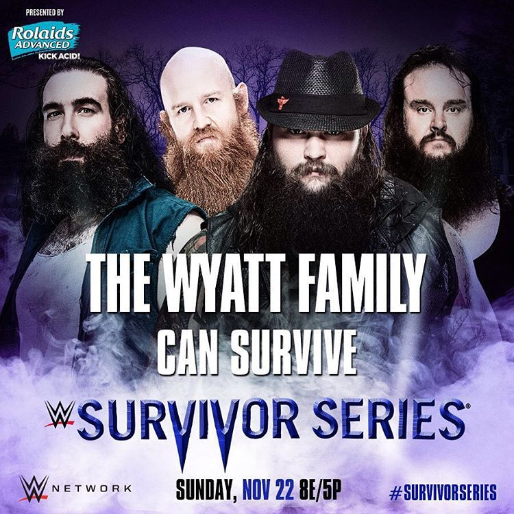 Which two members of The #WyattFamily will face The #BrothersOfDestruction? Find out tonight at #SurvivorSeries, only on #WWENetwork!