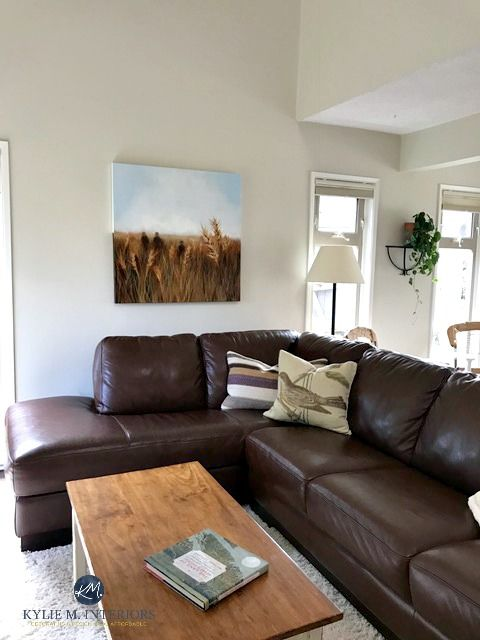 Colour Review: Ballet White Benjamin Moore. Brown Leather SectionalsInteriors  OnlineVaulted ...