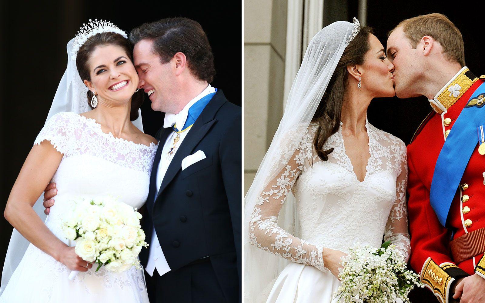 Royal Wedding Dress-Off: Kate vs. Princess Madeleine   Princess ...