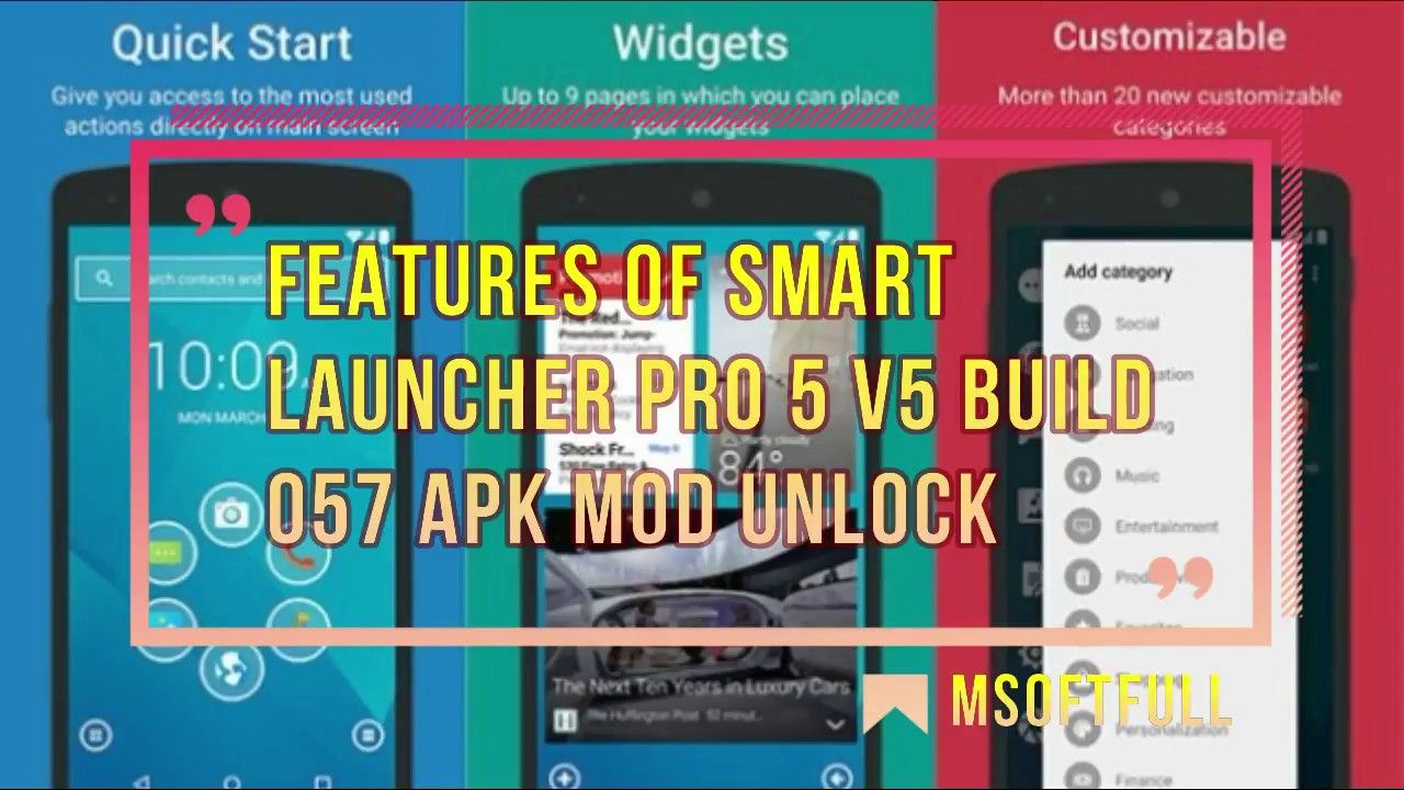 Smart Launcher Pro 5 v5 build 057 APK MOD FULL Unlock