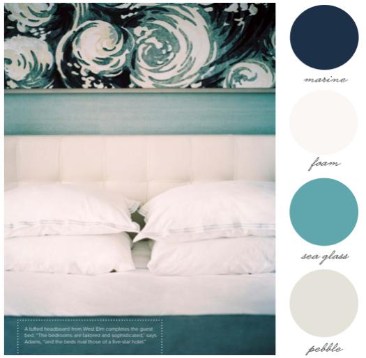 sea inspired wedding palette