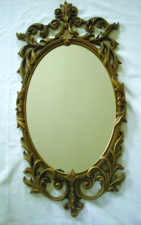 Vintage 1960 S Turner Mirror W Arabesque Molded Plastic