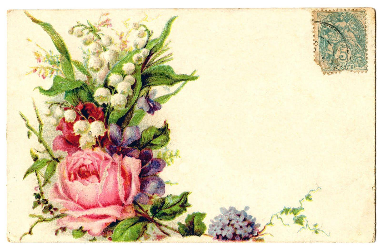 каких поздравления с днем рождения цветы картинки винтаж граждан есть