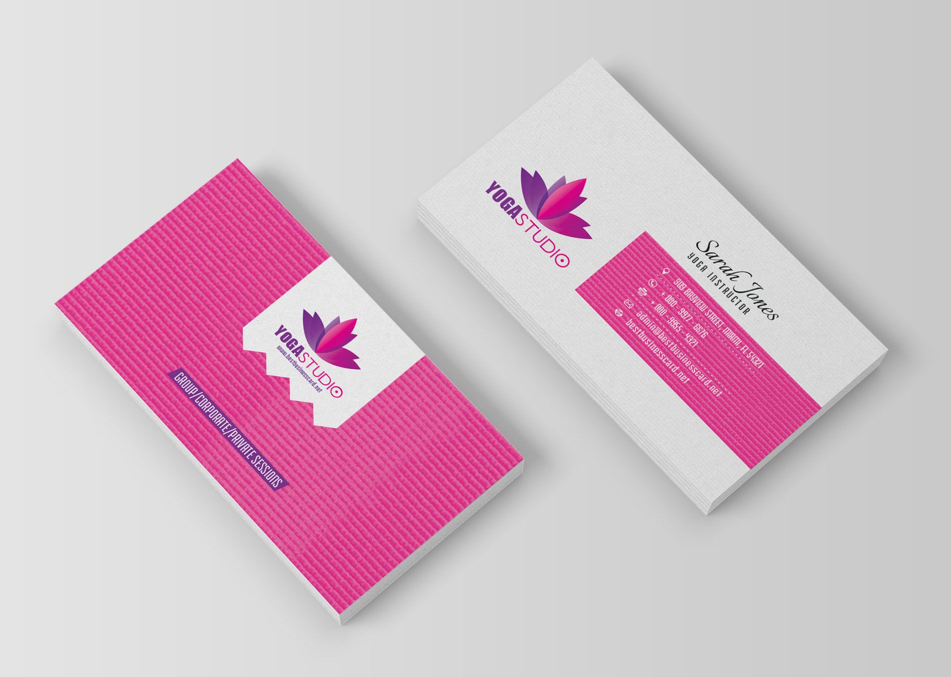 Yoga Business Cards: Free PSD Templates | islam | Pinterest | Psd ...