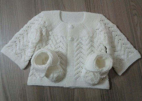 a4e56a961 Hand Knitting Tutorials  Baby Lace Cardigan - Free Pattern