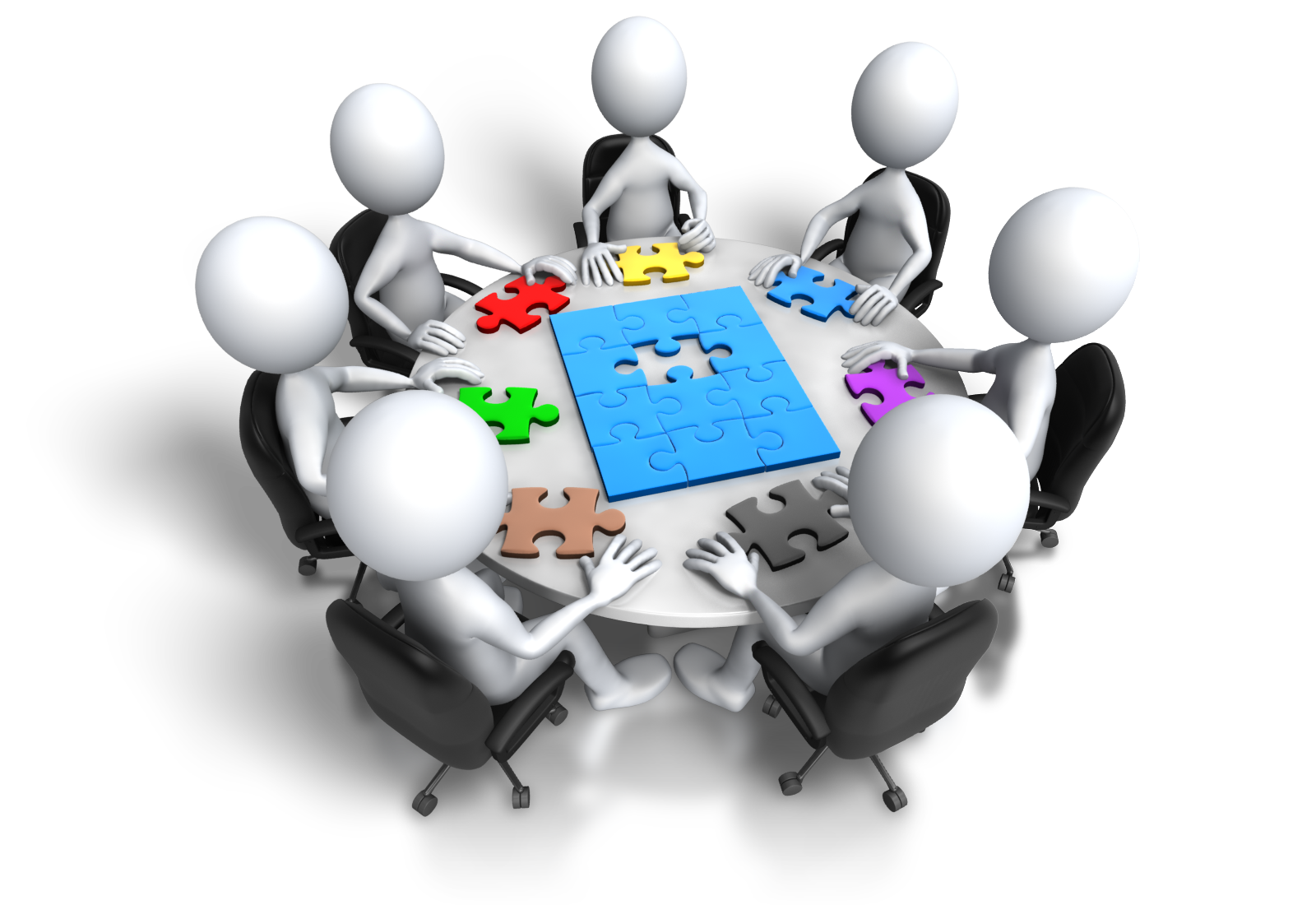 Group Meeting Puzzle Final Step 1600 Clr Png Special Education Iep Education