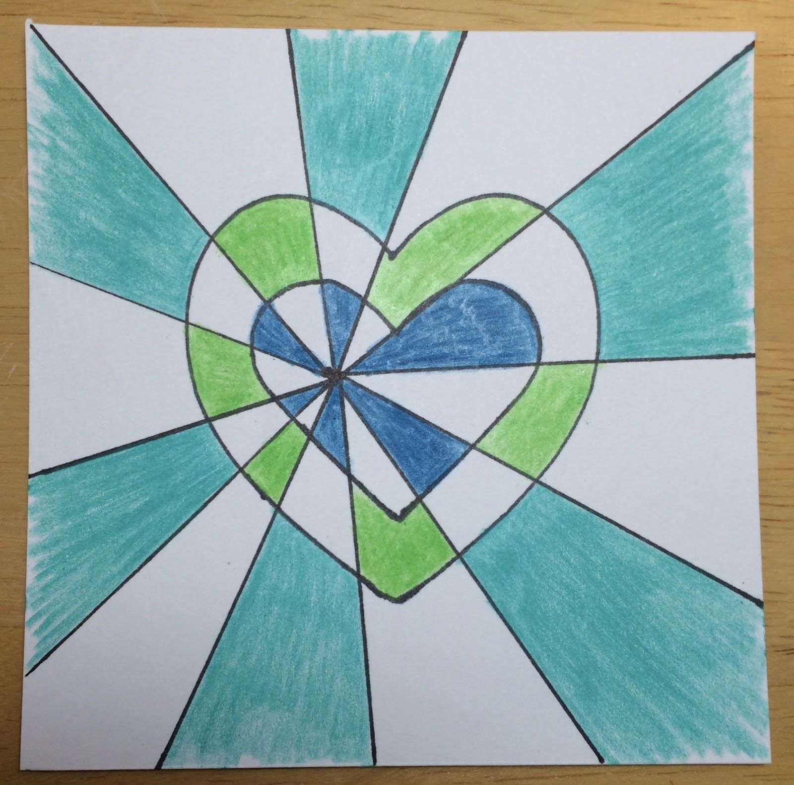 Kathy S Angelnik Designs Amp Art Project Ideas Double Heart Optical Illusion Art Lesson