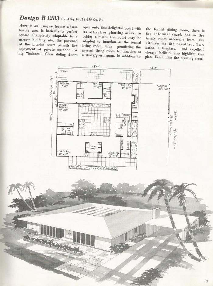 Vintage House Plans Refreshing Mid Century Contemporaries