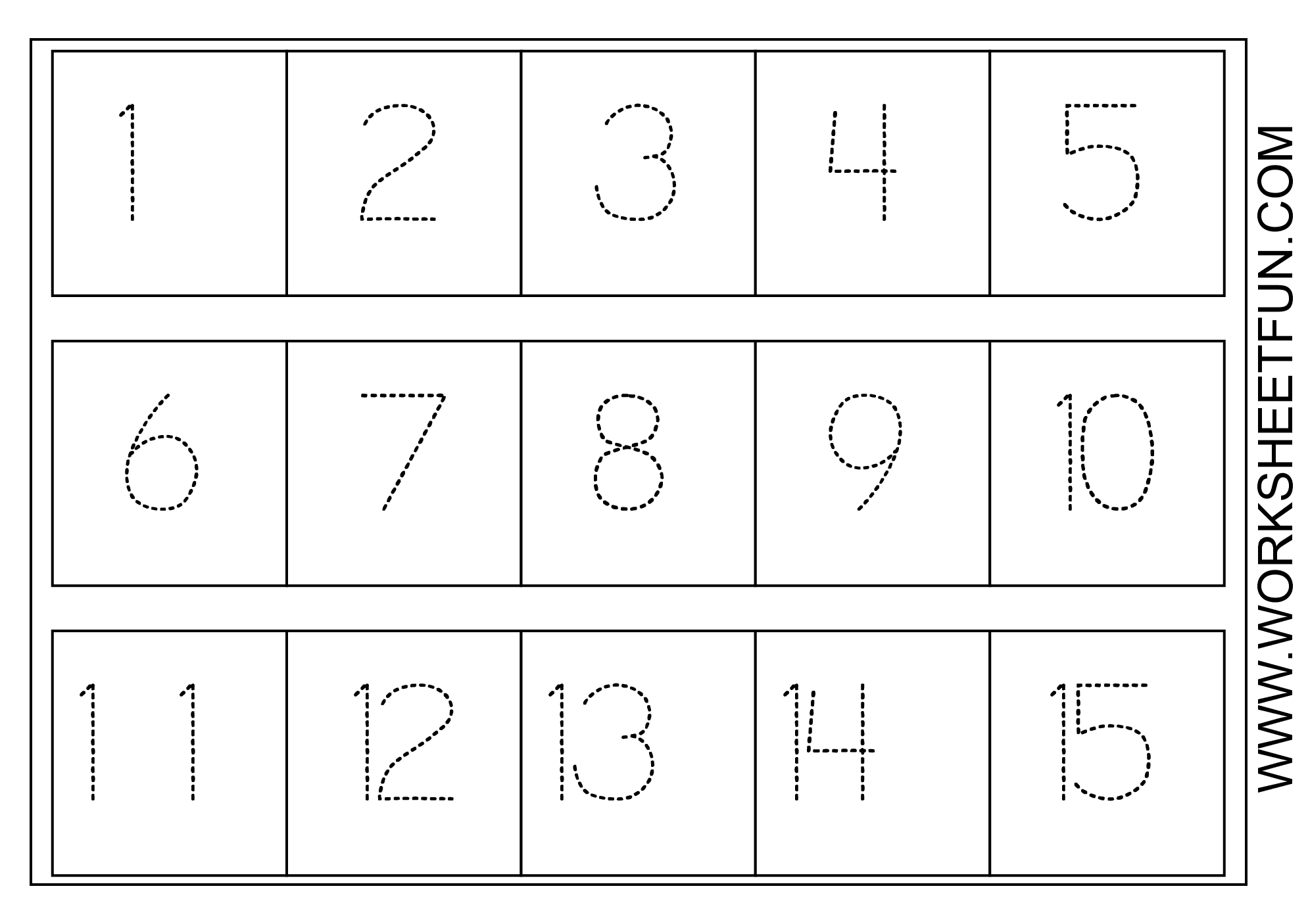 Numbers Worksheets For Preschool Kiduls Printable