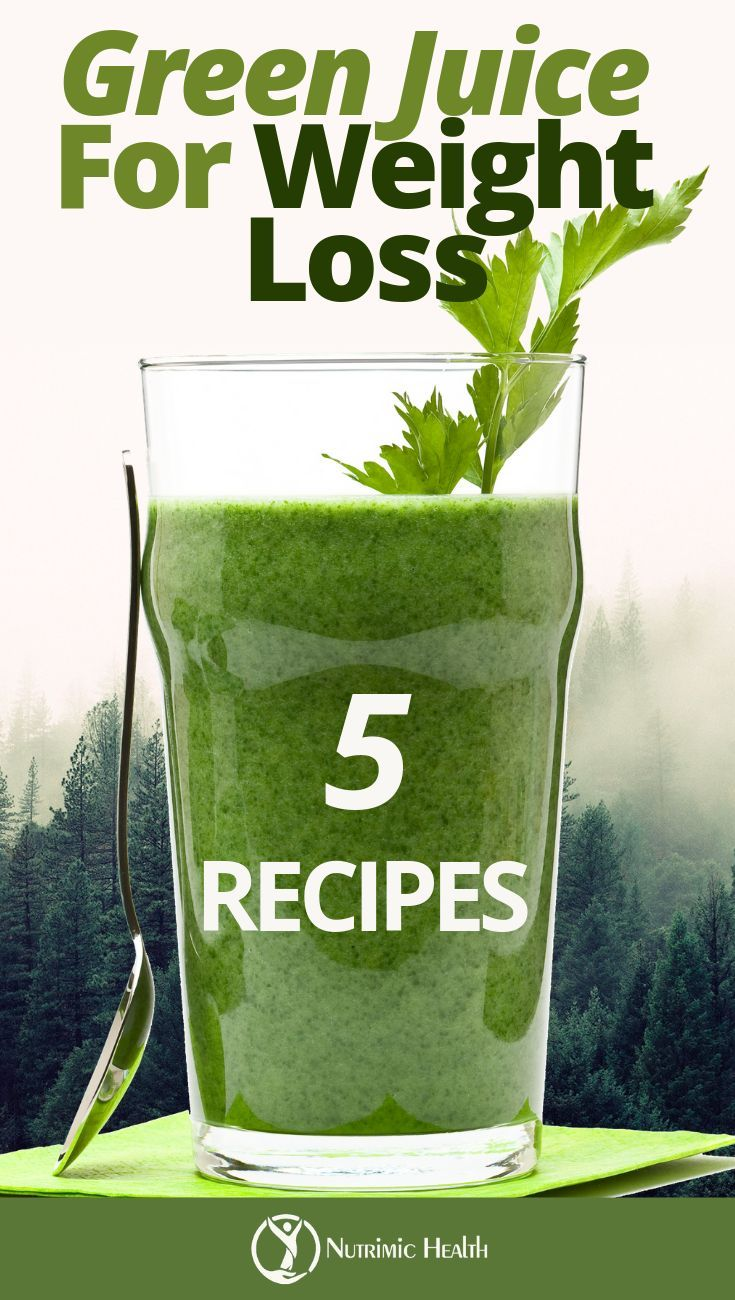 5 Green Juice Recipes for Weight Loss images