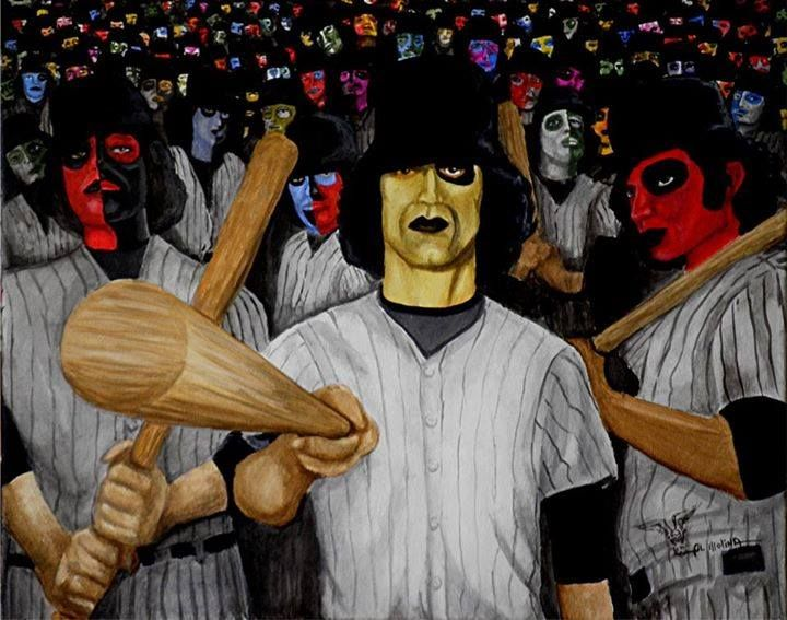 A Painting Of The Baseball Furies Inspired From The Warriors Great Job Warrior Movie Sports Painting Movie Art