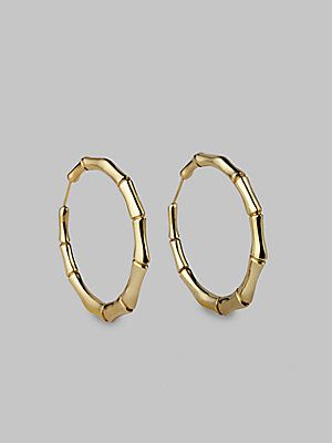 fe83c092a Gucci 18K Yellow Gold Bamboo Earrings/2¼