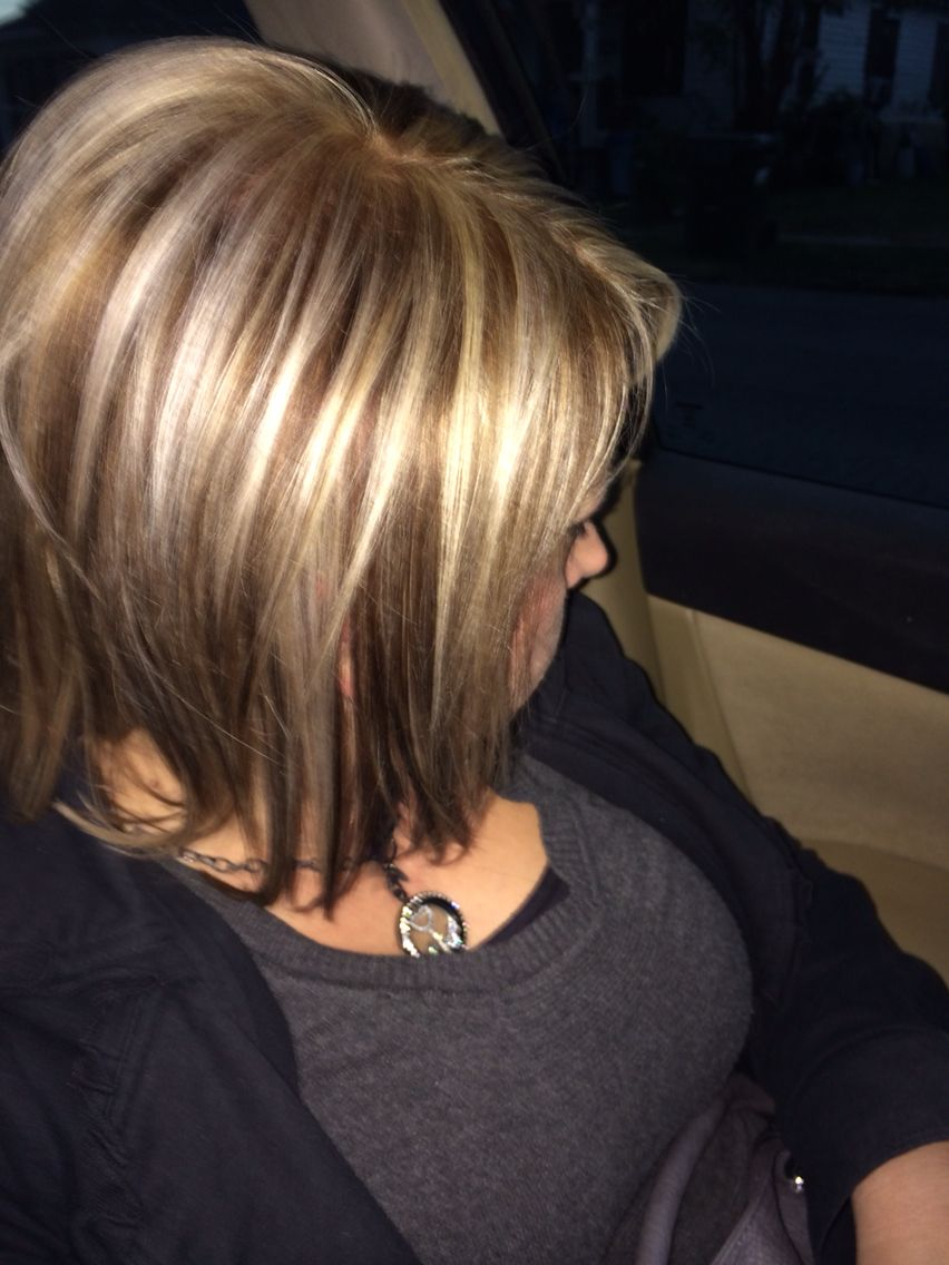 My hairstylist never ceases to amaze me... Added some browns & blonde for fall...
