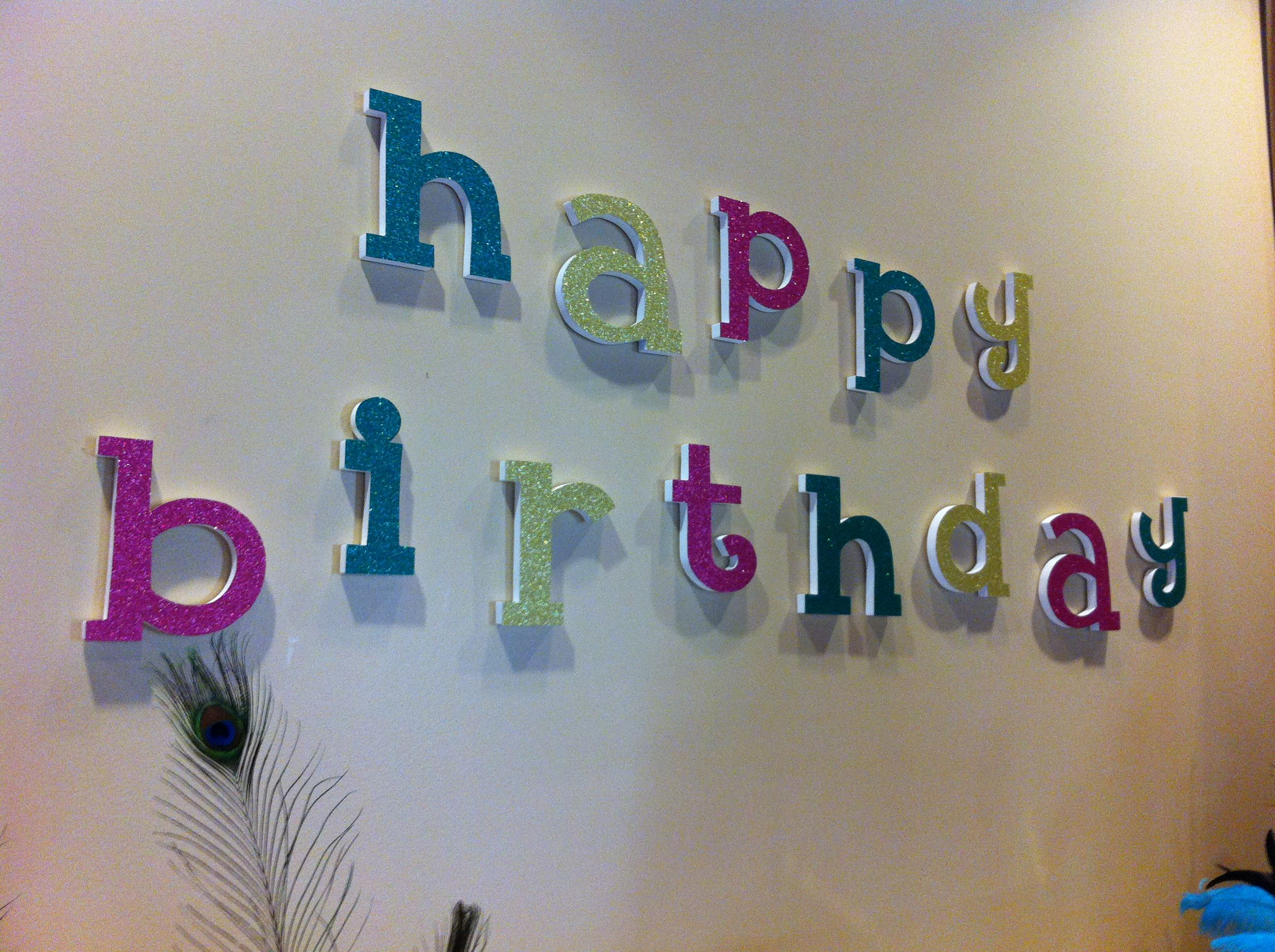 Happy Birthday Wall Decoration OldTimePottery