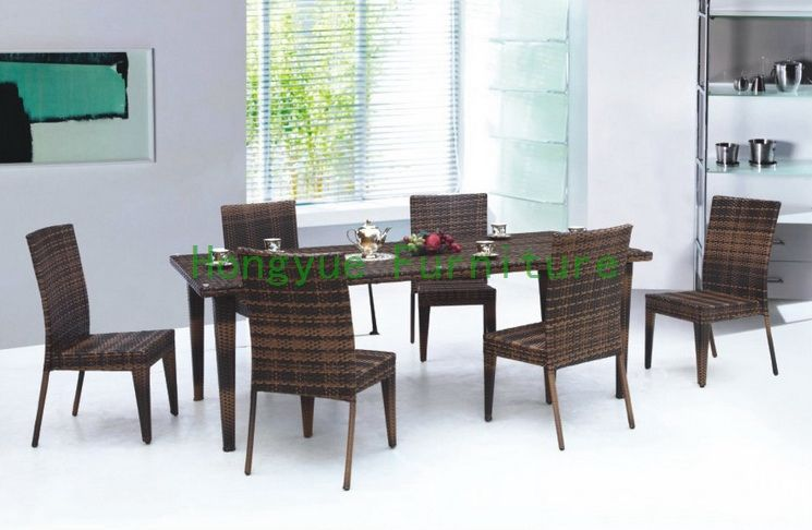 Find More Rattan / Wicker Furniture Sets Information about wicker dining room furniture with tempered glass,High Quality room organizers,China furniture living room Suppliers, Cheap furniture freight from Hongyue Cane Skill Furniture on Aliexpress.com