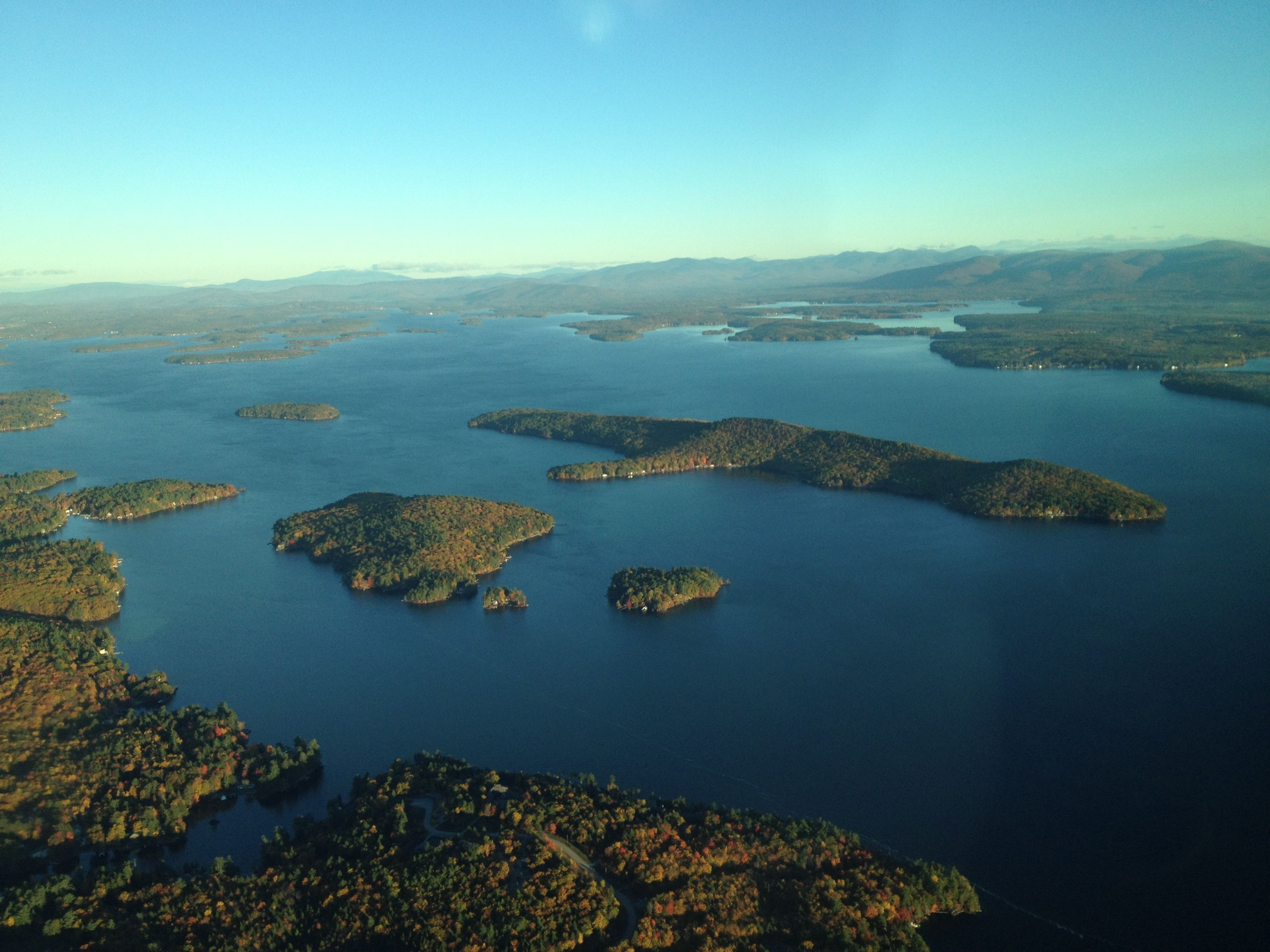 flying over lake winnipesaukee new hampshire today the long island in the background is. Black Bedroom Furniture Sets. Home Design Ideas