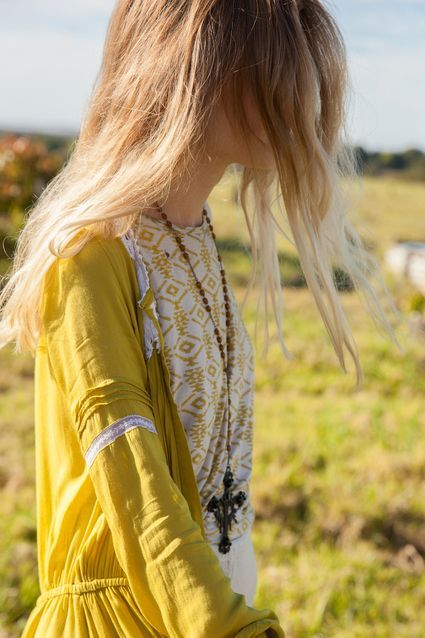 Sunny yellow blonde and boho