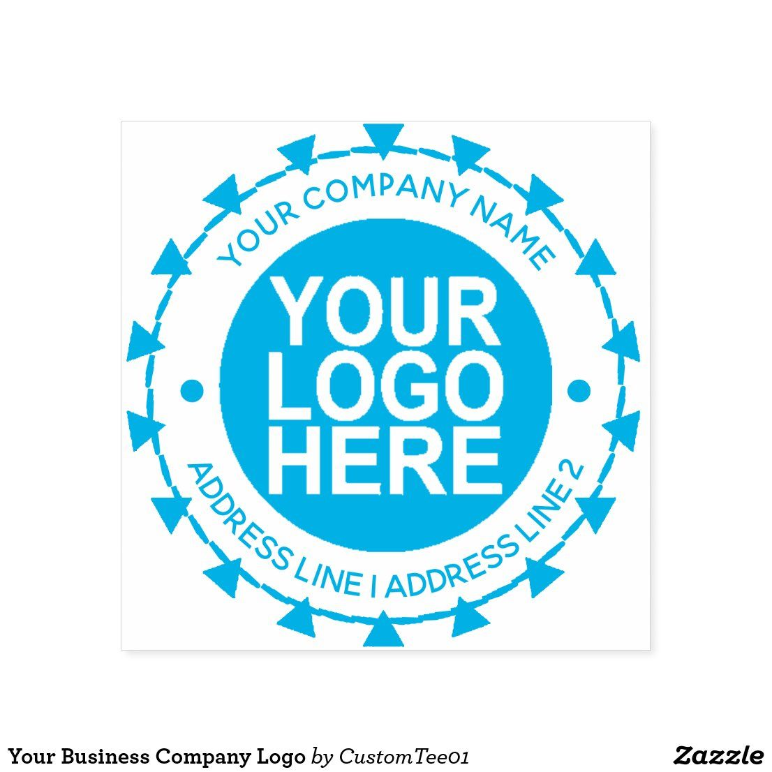 Your Business Company Logo Self Inking Stamp Zazzle Com Custom Stamp Logo Self Inking Stamps Business Stamps
