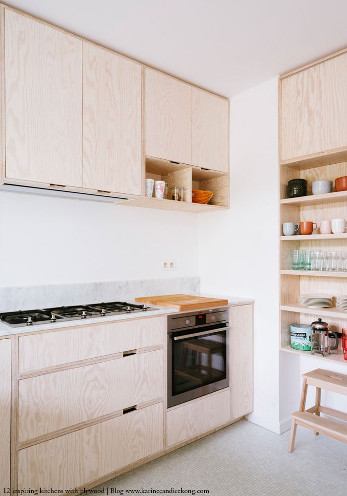 How to create a stunning kitchen with plywood: 12 inspiring ideas  부엌, 가구 및 ...