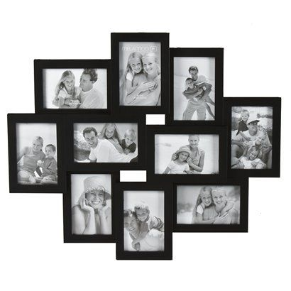 10 Opening Picture Frame Black 4x6 With Images Picture Frame Wall Collage Frames Large Collage Picture Frames