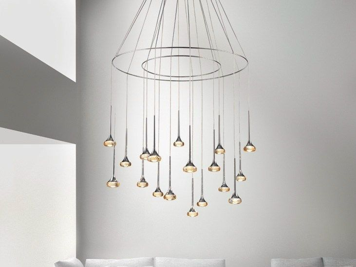 Led metal pendant lamp with dimmer lohja cameron design house
